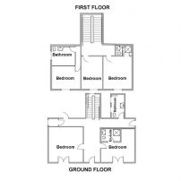 Floor plan for Georgian farmhouse