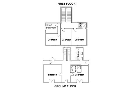 Floor plan Georgian farmhouse